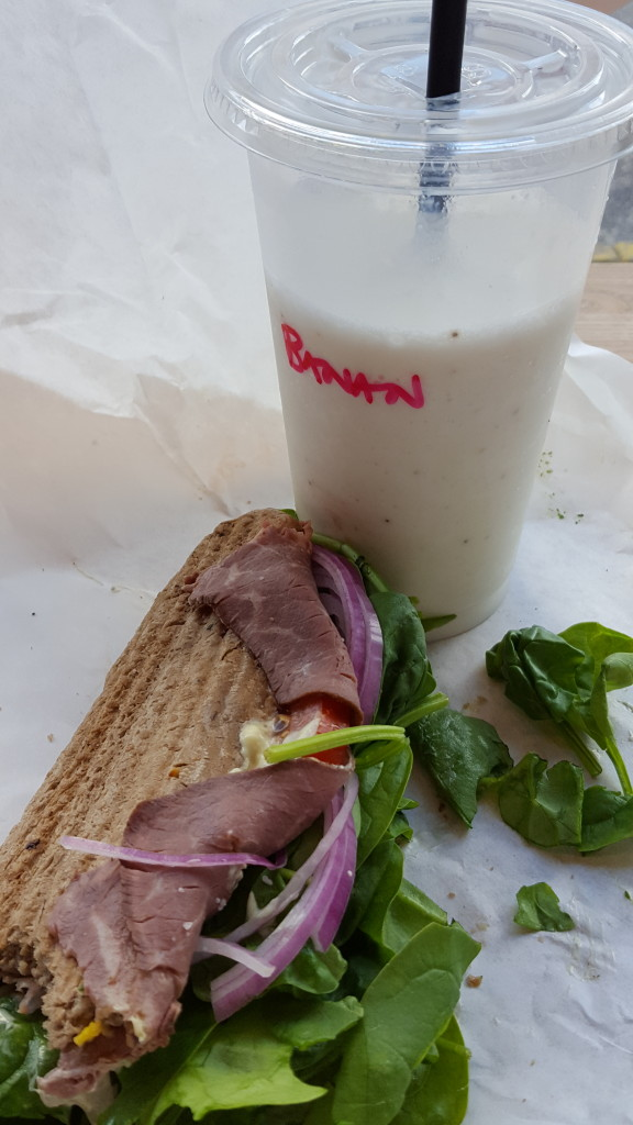 ffood roastbeef sandwich og shake